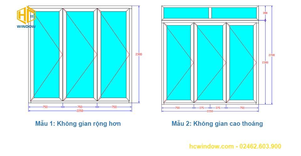 bản vẽ cad cửa đi xếp trượt 3 cánh nhôm Xingfa
