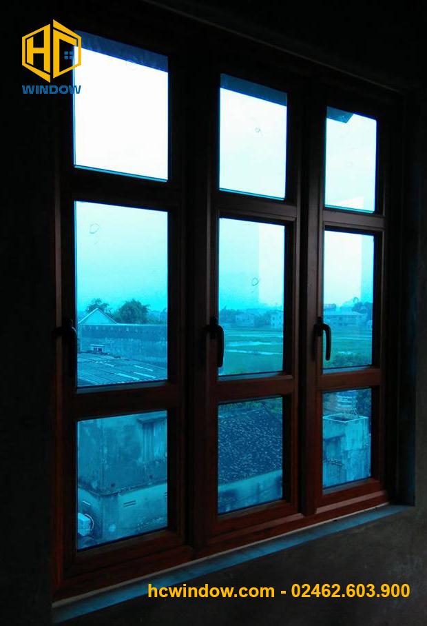 cửa sổ mở quay 3 cánh nhôm PMA